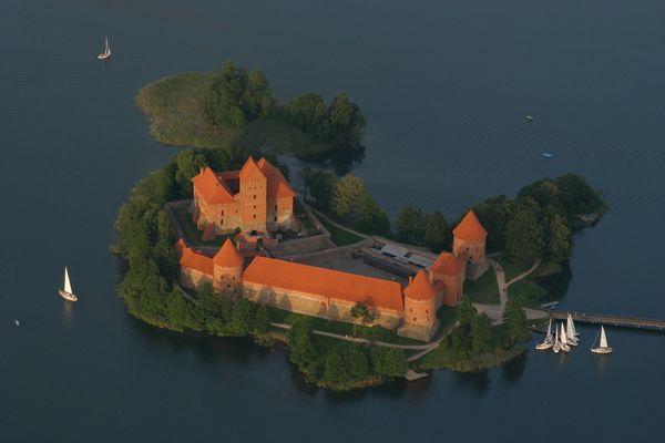 Inselburg Trakai mal von oben!!!