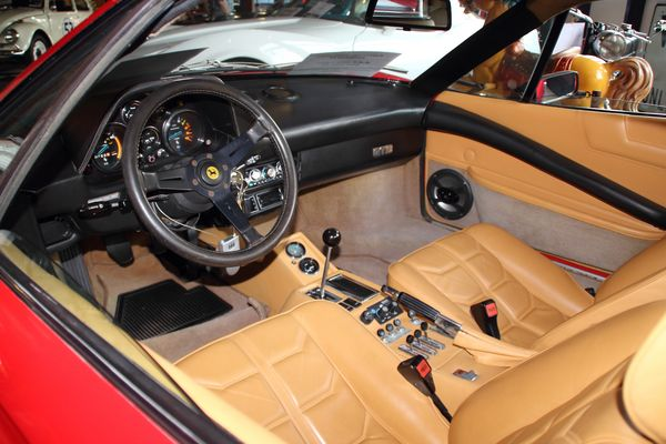 Inside a fast car