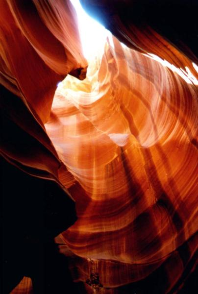 inside antelop canyon