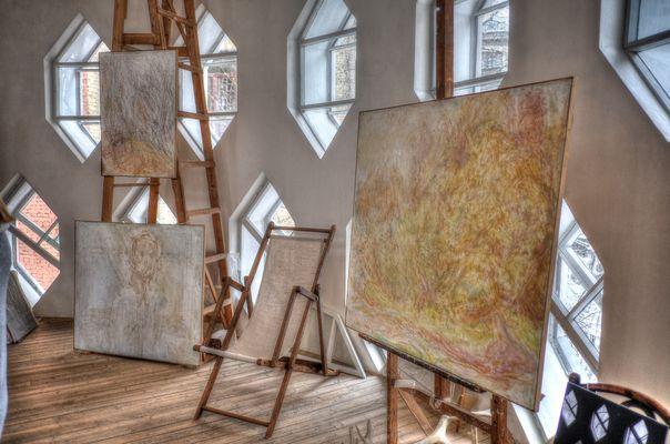 Inside Melnikov house, Moscow
