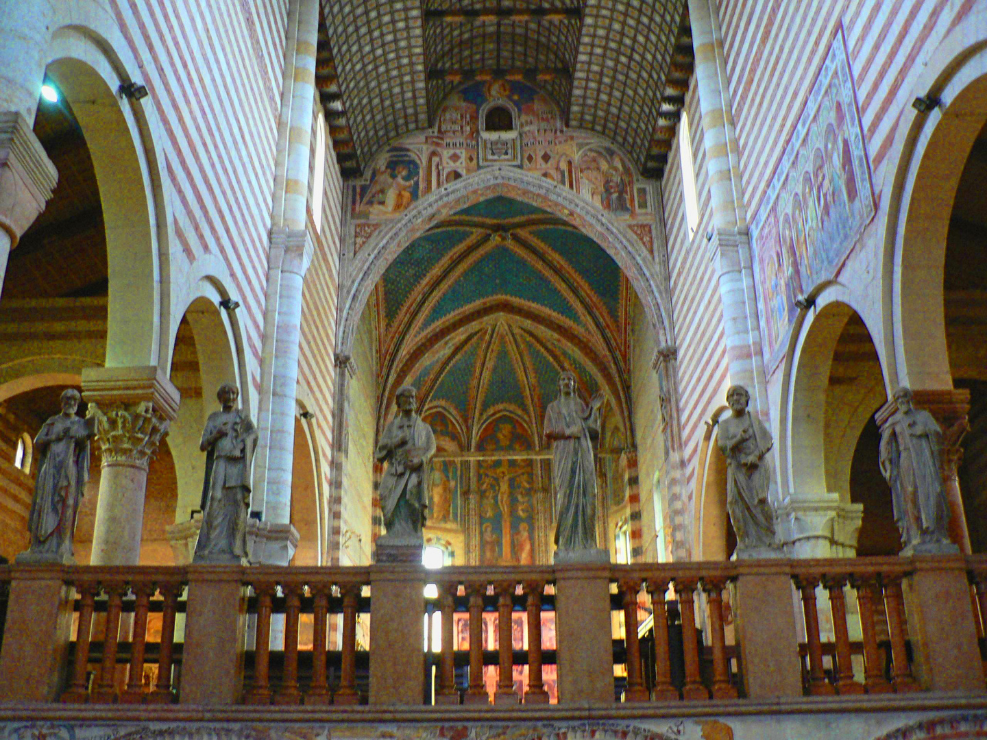 Inside the Basilica Di San Zeno in Verona