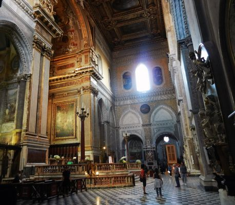 Inside the cathedral - Naples
