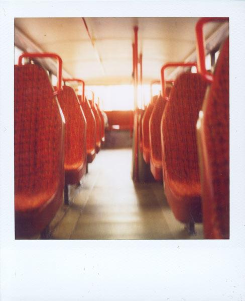 inside the doubledecker bus