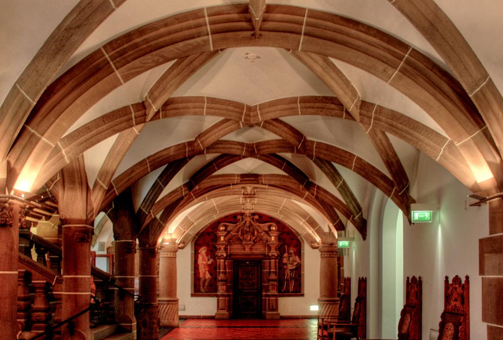 Inside the Duisburger Rathaus