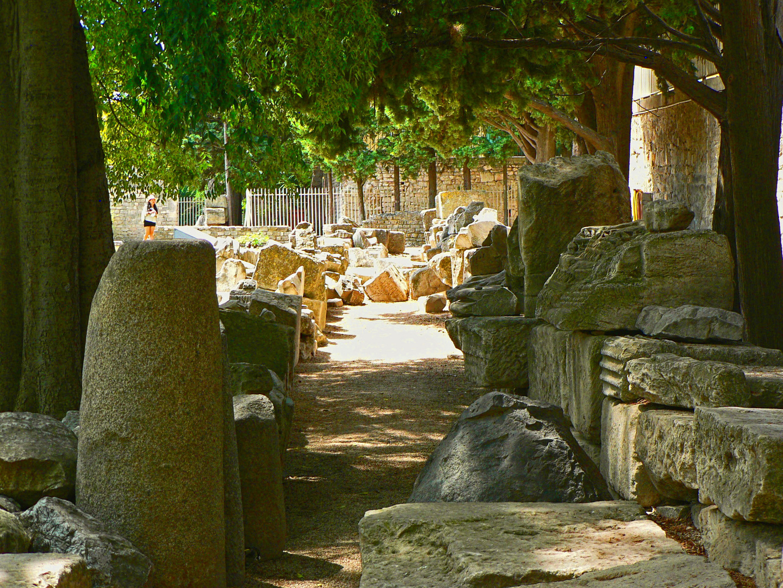 Inside the Roman Theatre, Arles