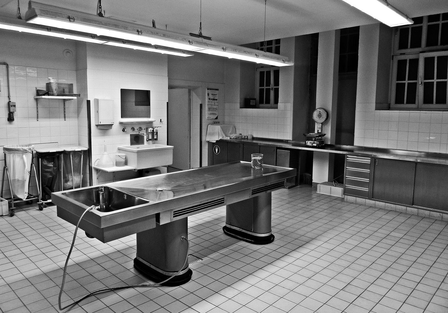 Institut für Pathologie des Klinikums Schwabing, kleiner Sektionssaal