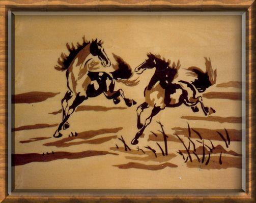 Intarsie 2.Pferde