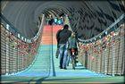 Interessante Brücke über den Rhein-Herne-Kanal bei Oberhausen