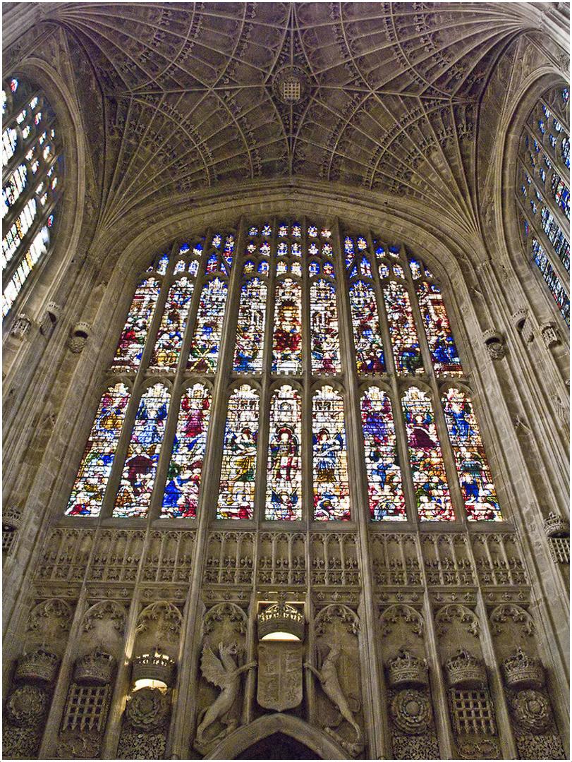 Intérieur de la façade ouest de la chapelle  --  King's College, Cambridge