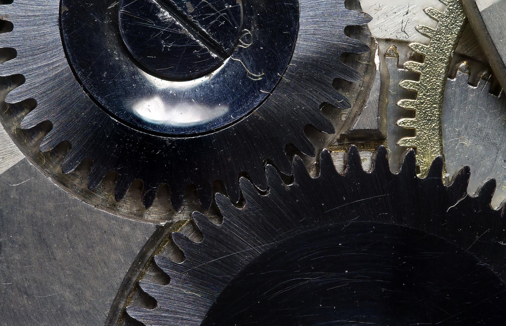 Interieur einer Taschenuhr - Makro