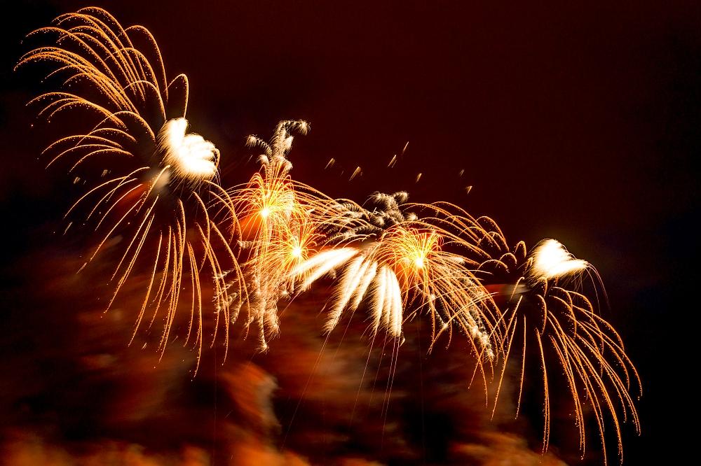 Internationaler Feuerwerkswettbewerb 2014 in Hannover