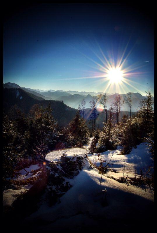Into the sun.....