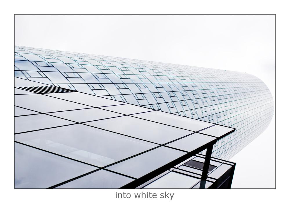 into white sky