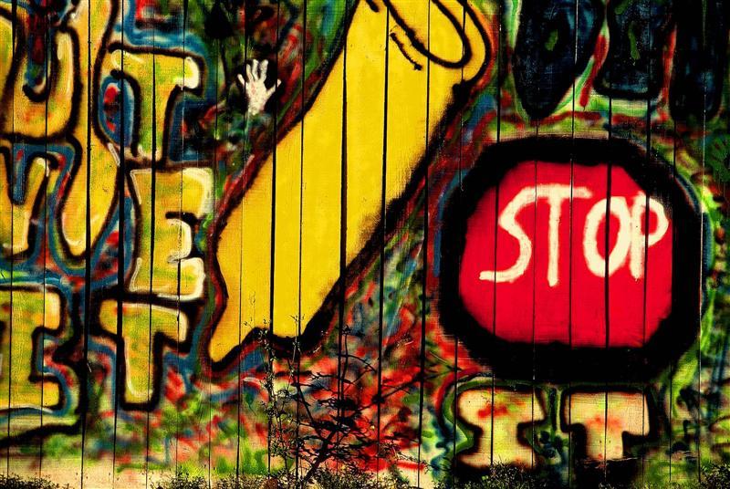 Irgendwelche Graffiti die mir durch die Farbe gefielen
