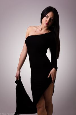 ...Irina and the black dress...