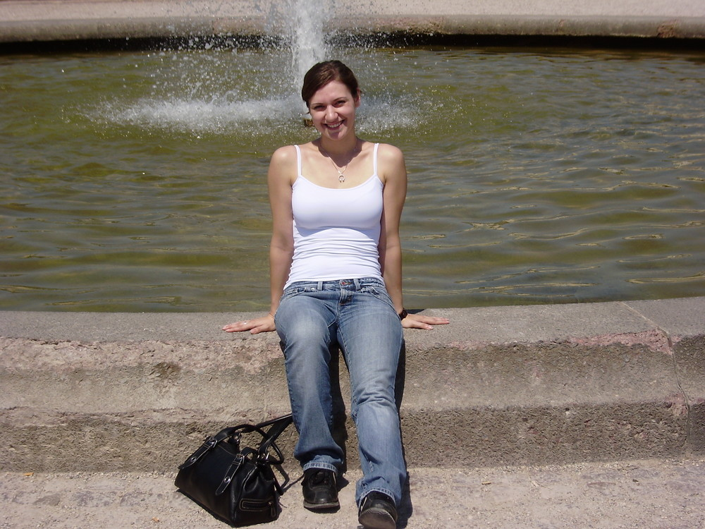 Irina im Sommer in Karlsruhe