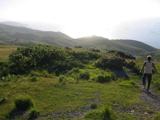 Irisch Grüne Berge bei San Sebastian