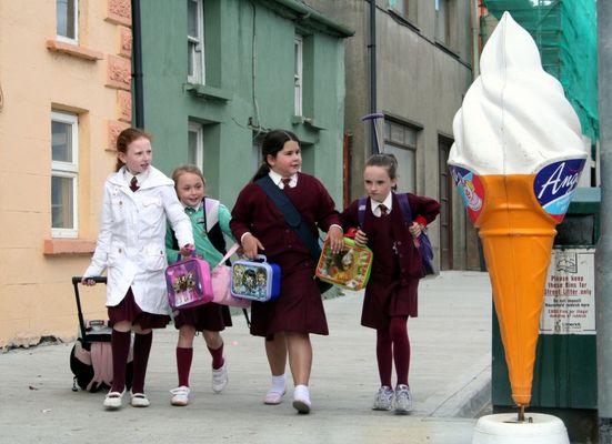 Irische Schulkinder