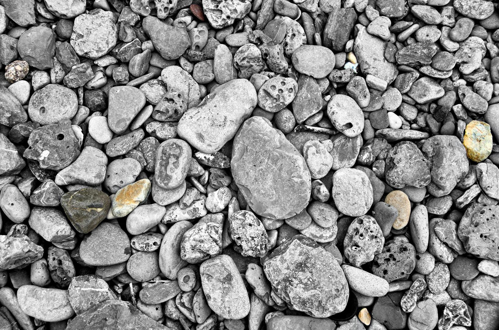 ... irish stones at the beach ...