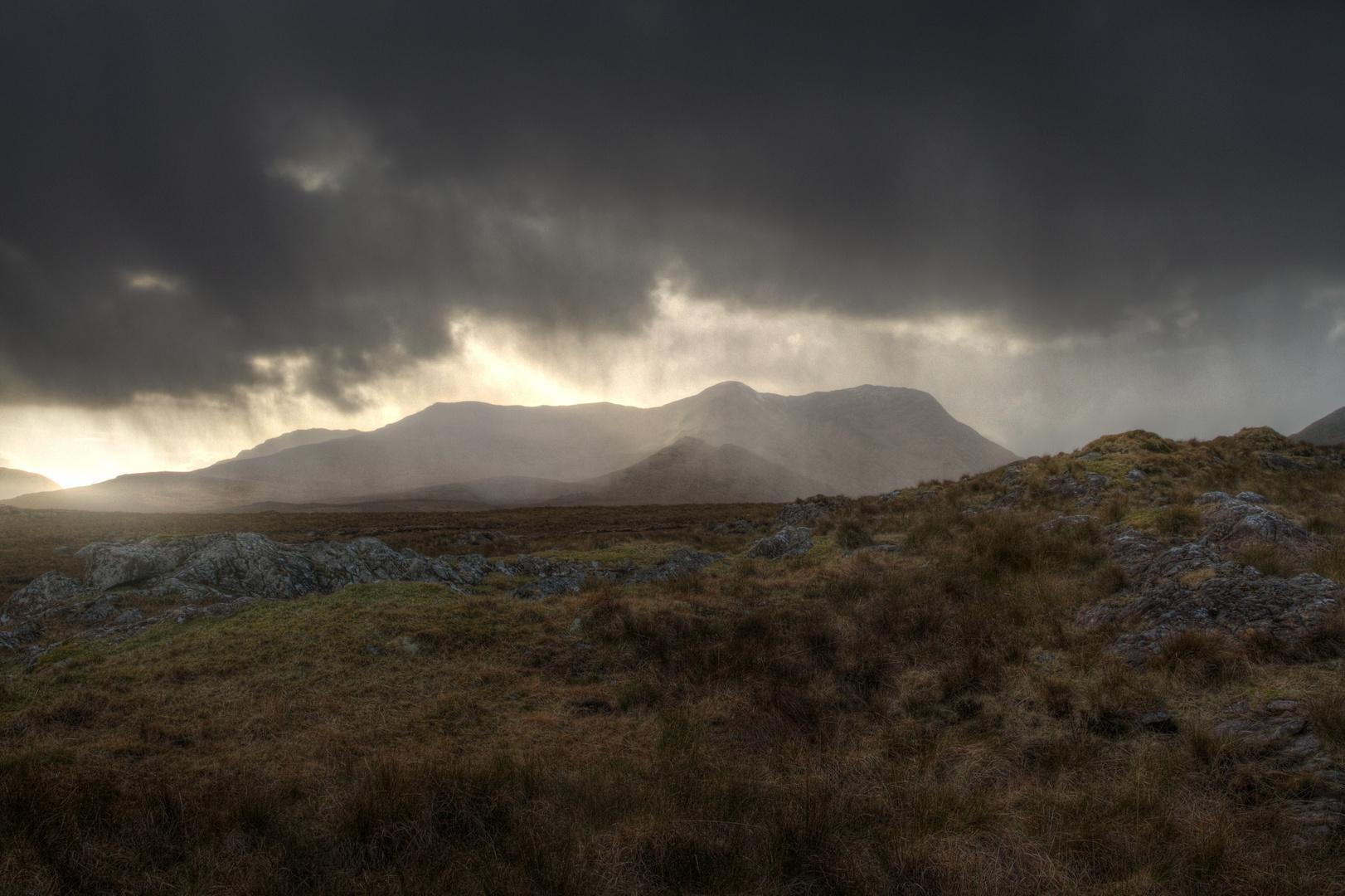 irland connemara regen