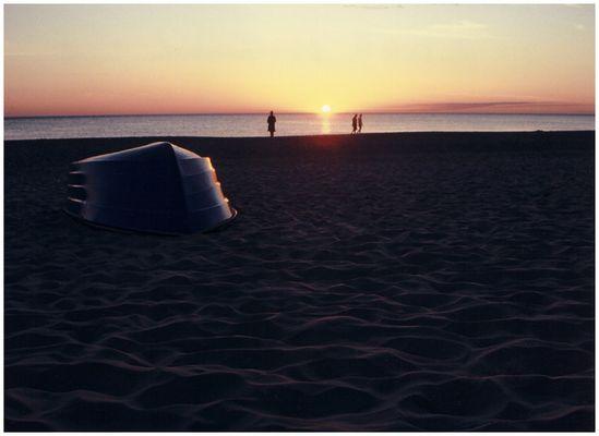 Isabella am Strand von Westerland