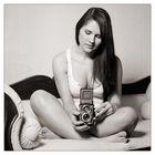 Isabella and my Rolleiflex