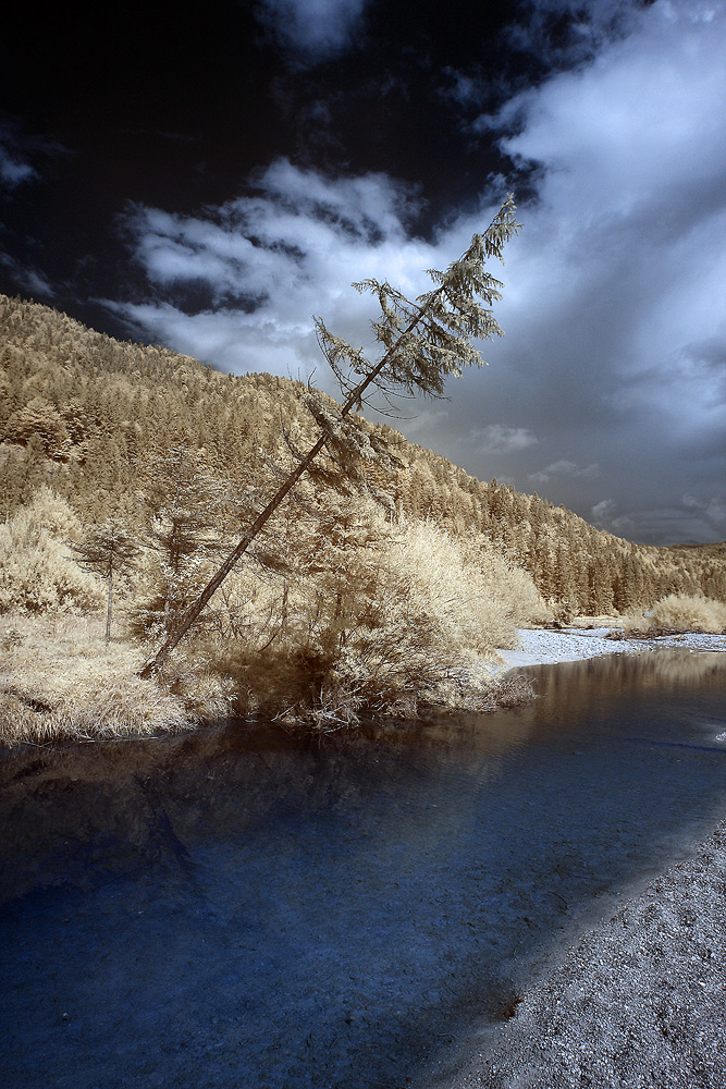 Isar-Flußbett bei Wallgau