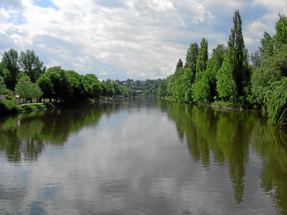 Isar in Landshut