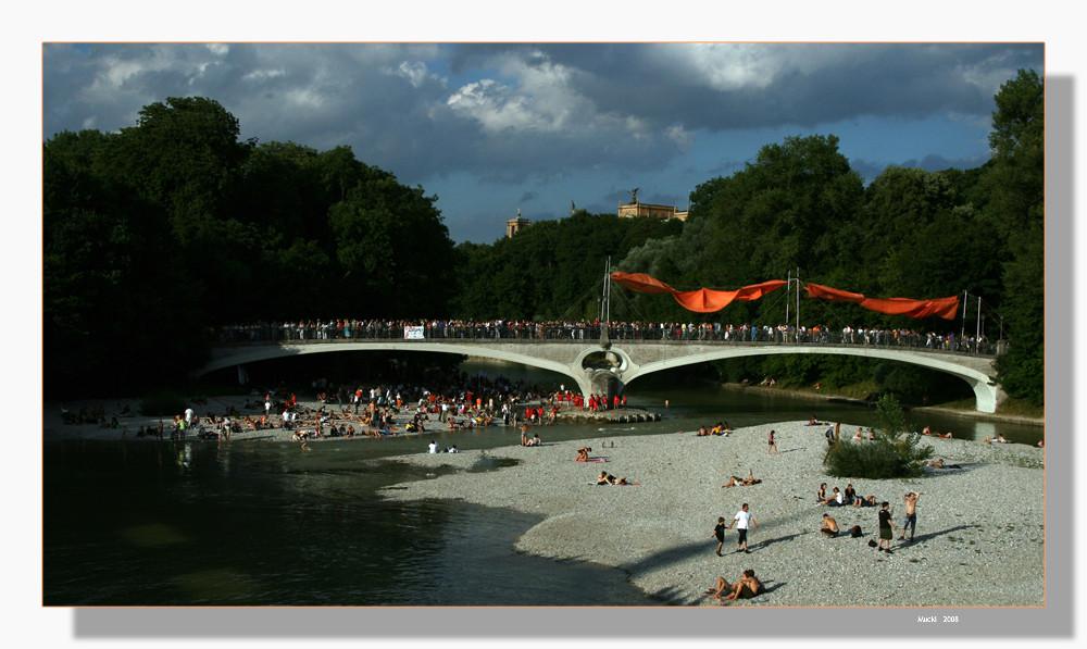 Isarbrückenfest zu Münchens 850 Jahrfeier 01. - 03. August 2008