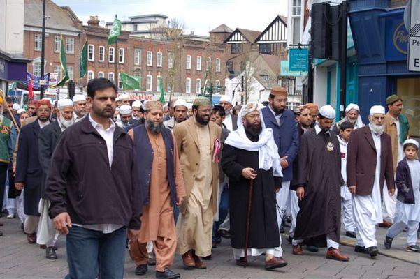 Islamische Prozession zum Geburtstag von Mohamed - High Wycombe - 2