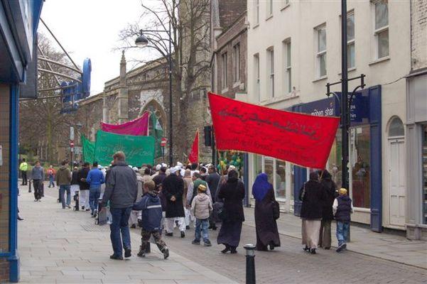 Islamische Prozession zum Geburtstag von Mohamed - High Wycombe - 6