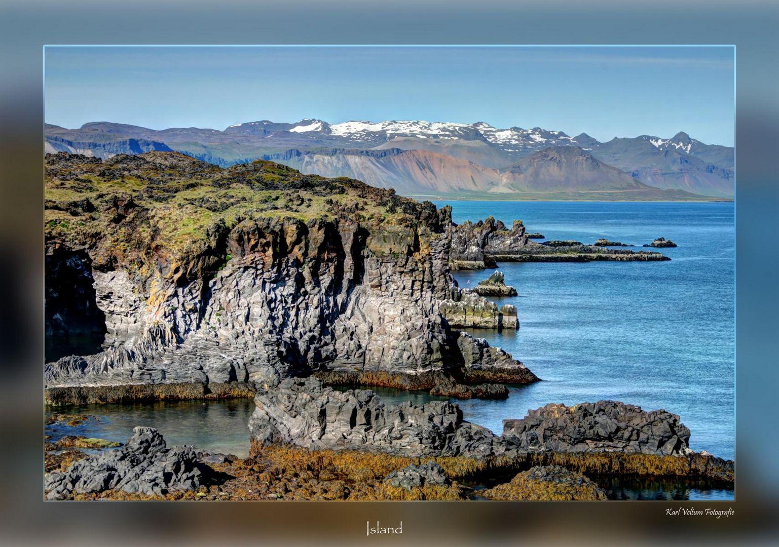 Island Felsküste