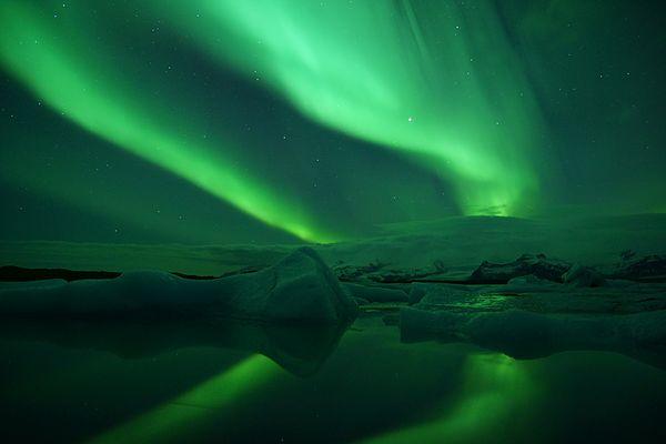 Island im Winter – Ein Höhepunkt in meinem Berufsleben, die Polarlichtnacht an der Gletscherlagune….