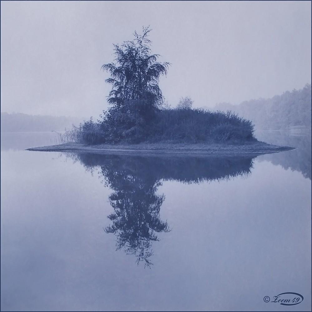 Island in blue