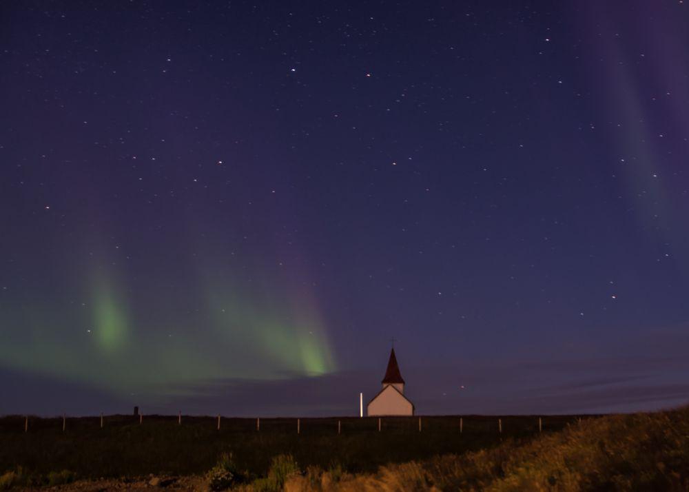 Island - Nordlicht in Hellnar
