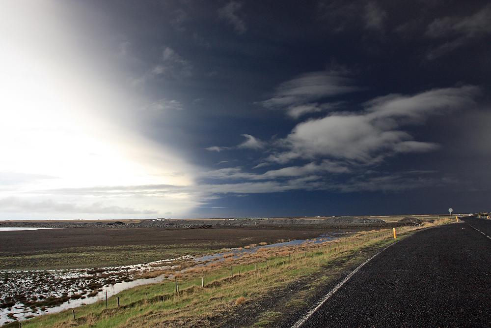 Island unter Aschewolke