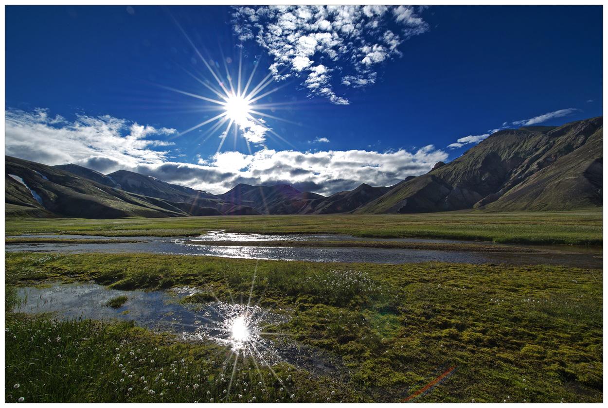 Island Zauberland [35] - Landmannalaugur mit Sonne