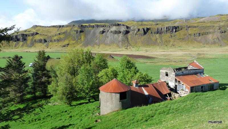 Islandimpression, verlassener Bauernhof im Dorisdalur.