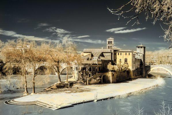 Isola Tiberina infrarosso 720 nm