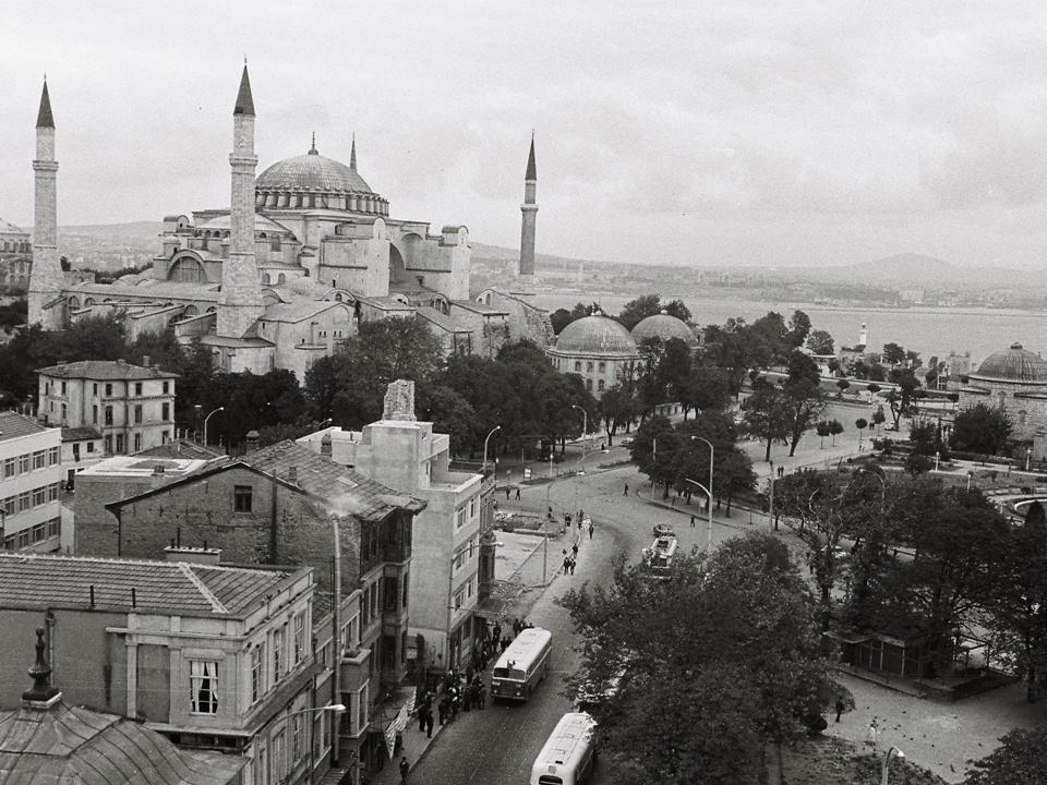 Istanbul Blick auf Hagia Sophia 1967