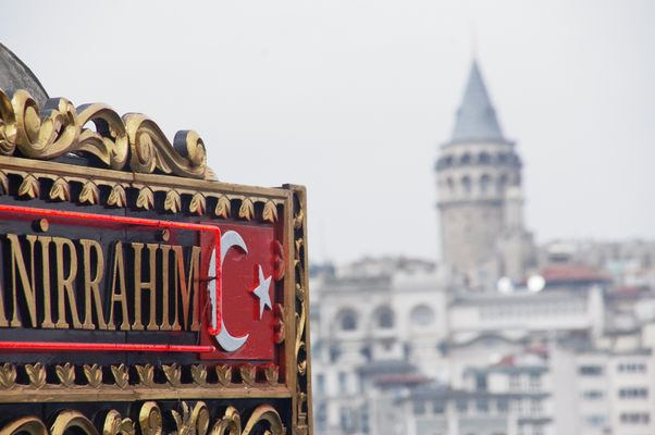 Istanbul - Galatabrücke und Galataturm