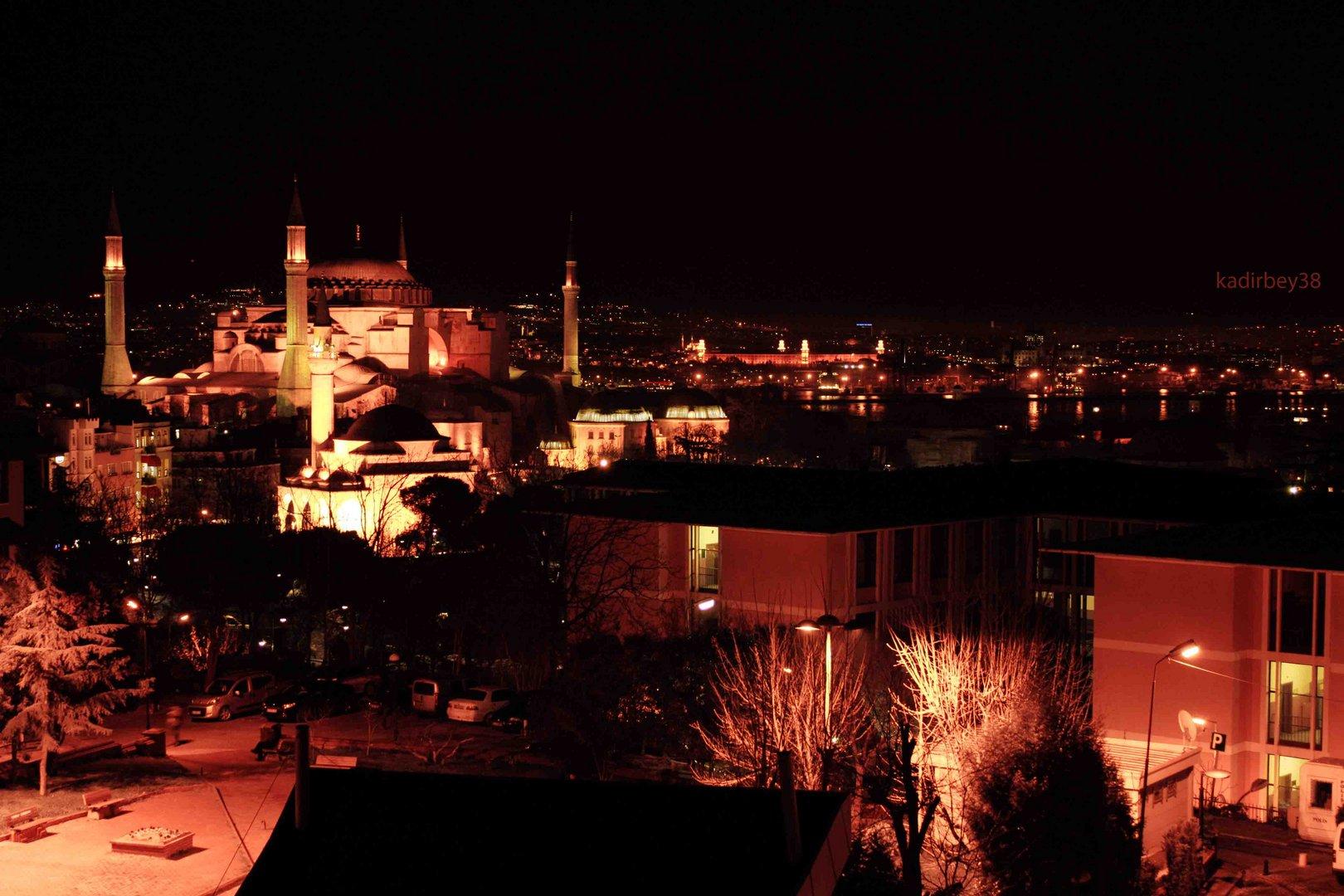 Istanbul Hagia Sophia nacht
