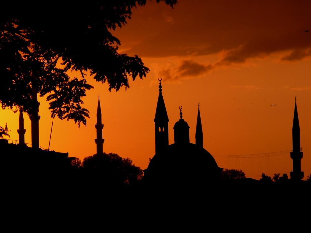 Istanbul im Dämmerlicht