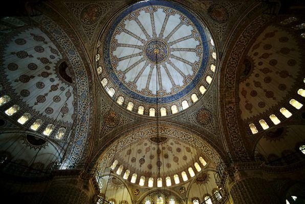 Istanbul, Kuppeln der blauen Moschee