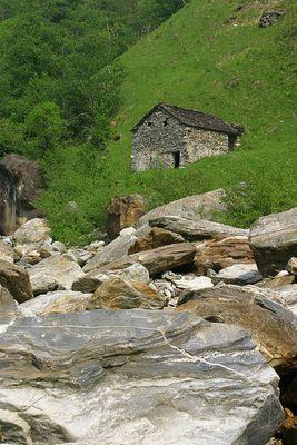 Italienische Steinhäuser