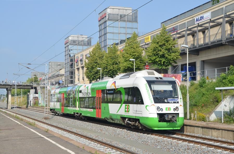 Itino der Erfurter Bahn im Haltepunkt Leipzig Allee Center