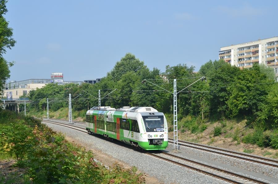 Itino der Erfurter Bahn zwischen Leipzig Allee Center und Leipzig Plagwitz