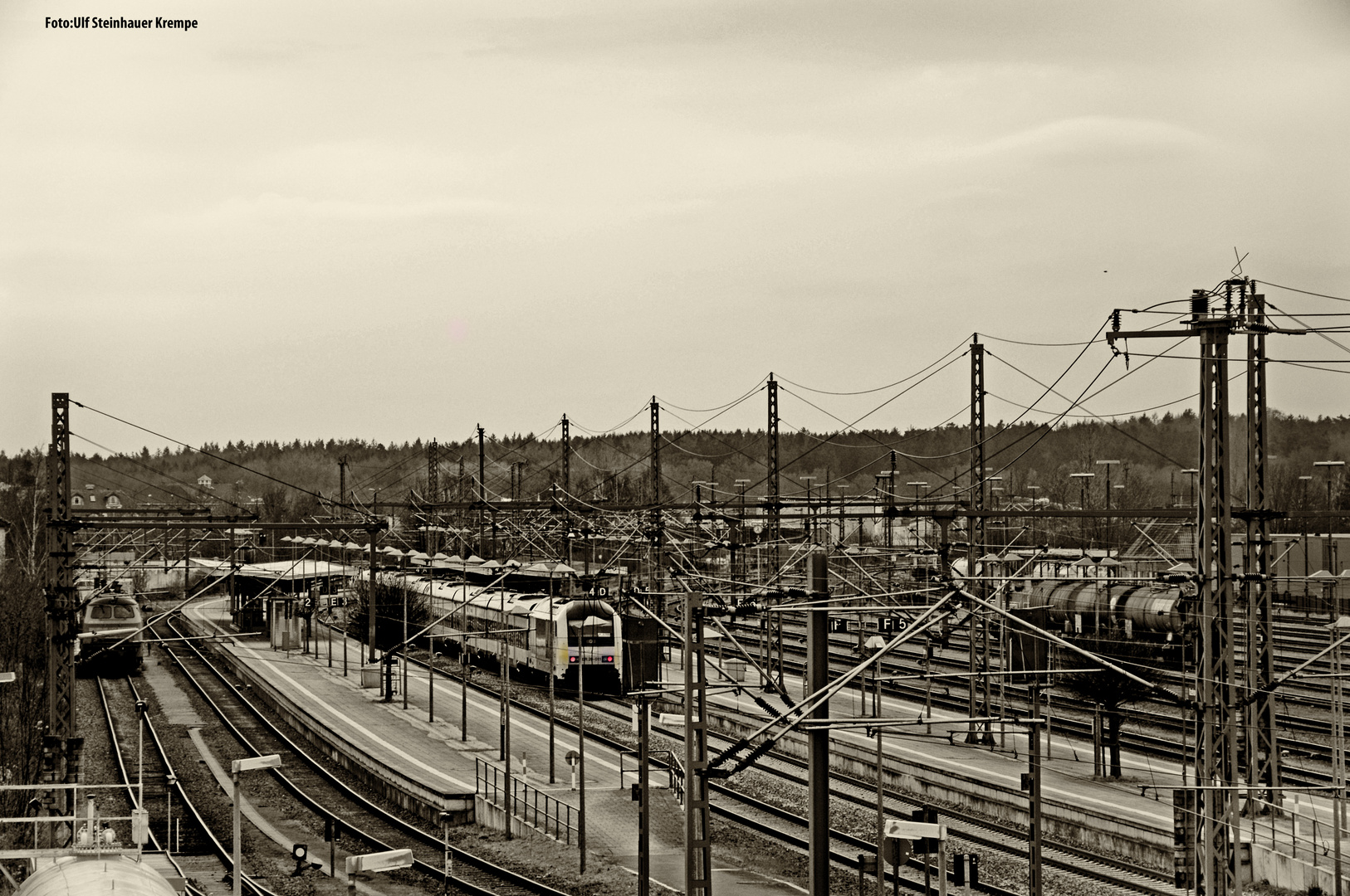 Itzehoe Bahnhof Sepia