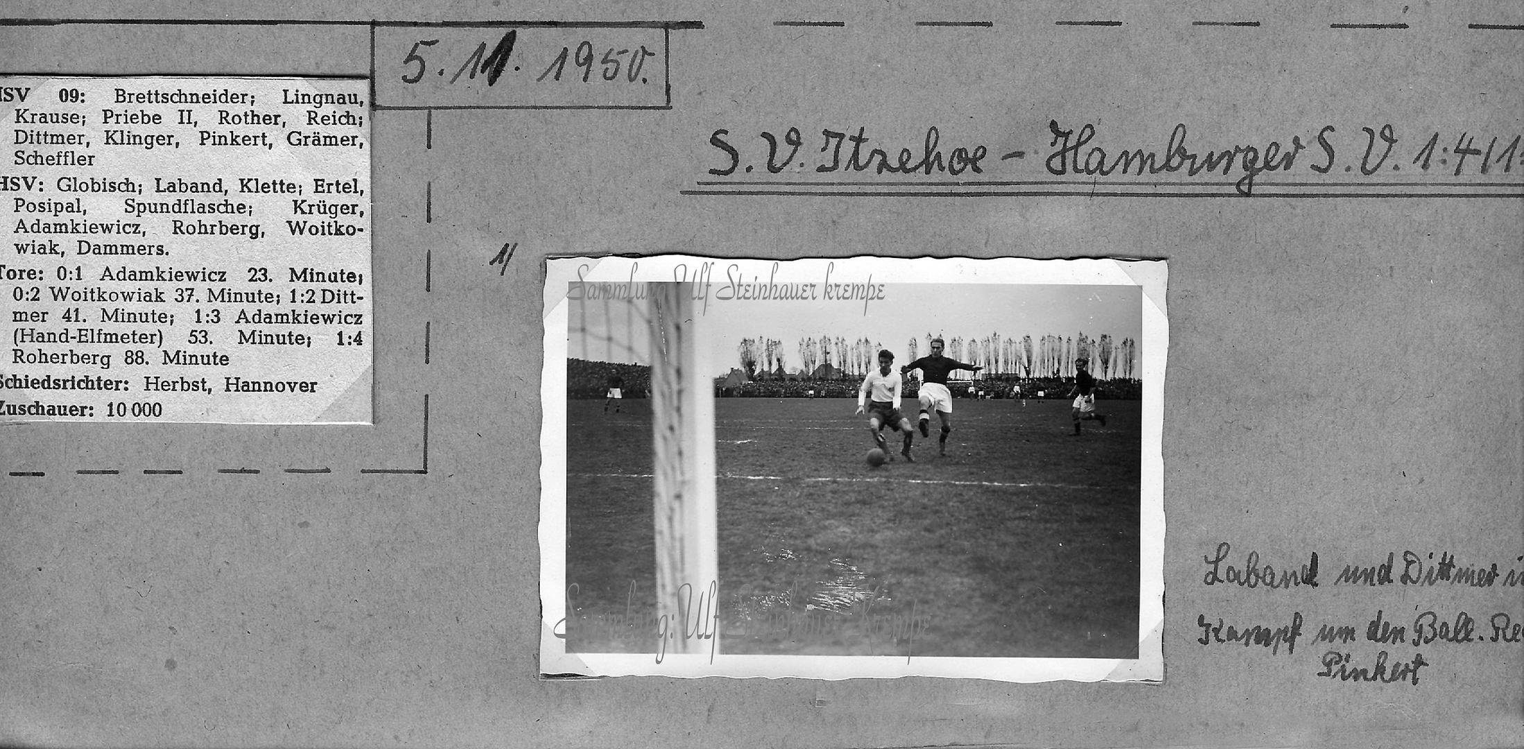 Itzehoe ISV -Hamburger SV 1950