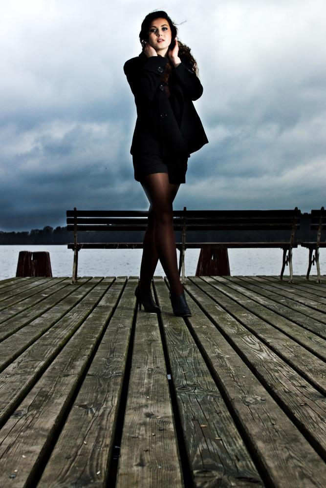 Izabela on the pier